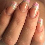 French manicure glitters